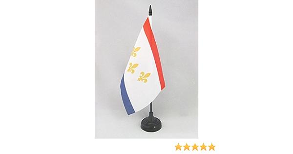 BANDERINA de DESPACHO Americana DE LUISIANA AZ FLAG Bandera de Mesa de LUISIANA 21x14cm EE.UU 14 x 21 cm