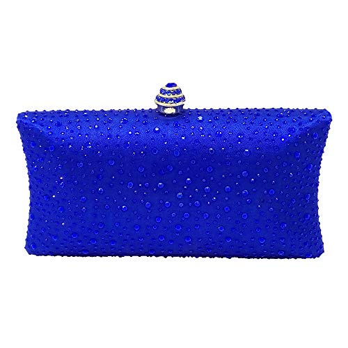 d'onore Dinner tracolla rosso Fashion a colore Blu Borsa Diamond Bag Lady Maybesky Clutch Damigella qUvwCEw