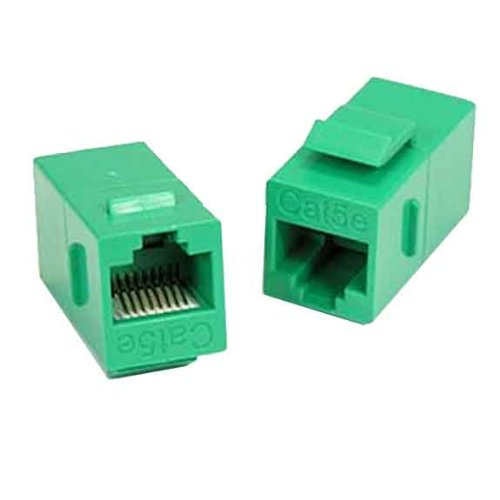 SF Cable CAT5E Ethernet Cable Inline Coupler with Keystone Latch, Green Color