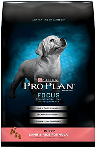 Purina Pro Plan Dry Dog Food, Focus, Puppy Lamb & Rice Formula, 18-Pound Bag, Pack of 1 (Pro Stages)