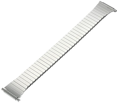 Voguestrap TX921W Allstrap 15-19mm Silver Long-Length Tapered Expansion Watchband