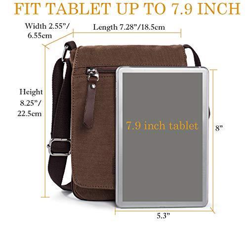 Ranboo Cross-Body Bag Shoulder Bags Messenger Bag Mens Satchel for Travel Brown