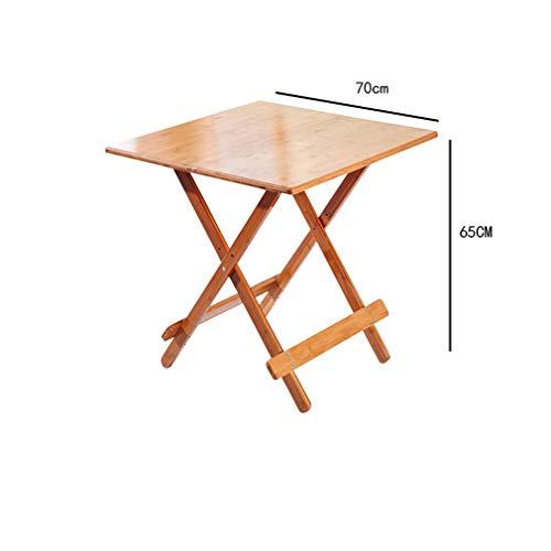 HCYTPL fällbord massivt trä fällbart bord enkelt kvadratiskt matbord bärbart massivt trä liten lägenhet fällbart bord hemma, 70 x 70 cm