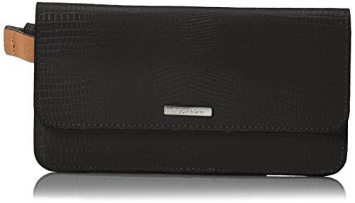 Calvin Klein Embossed Belt (Calvin Klein Women's Embossed Lizard Belt Bag, White/Black,)
