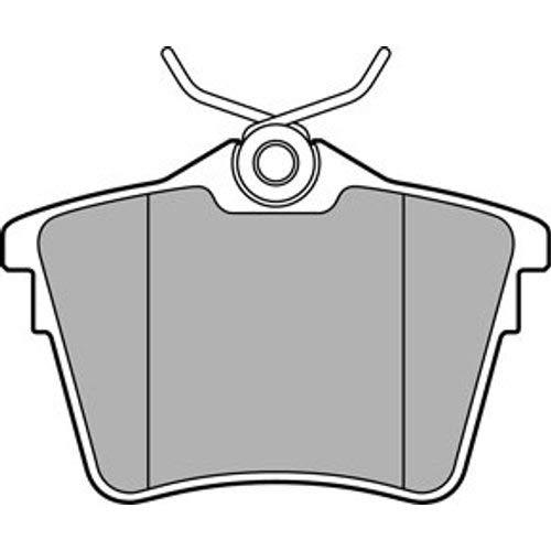 Bremsbel/äge Set Hinten Delphi Bremsscheiben /Ø289Mm