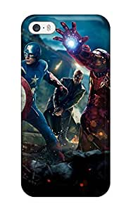 Tpu Case Cover For Iphone 5/5s Strong Protect Case - The Avengers 32 Design