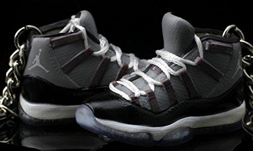 Mj Dunk Slam - Air Jordan XI 11 Retro Hi Cool Grey OG Sneakers Shoes 3D Keychain Figure
