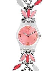 Swatch Womens Originals LK345G Silver Stainless-Steel Swiss Quartz Watch