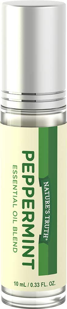 Nature's Truth Essential Oil Roll-On Blend, Peppermint, 0.33 Fluid Ounce