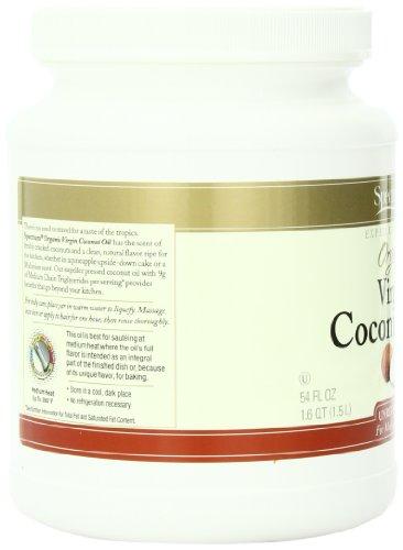 Spectrum Organic Coconut Oil for Cooking, Virgin, Unrefined, 54 fl. oz. by Spectrum (Image #3)