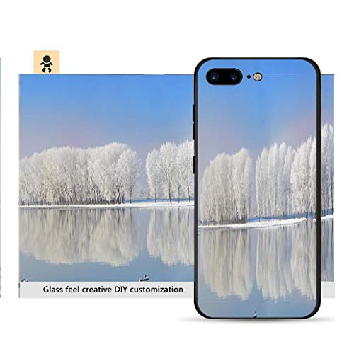 (iPhone 7p / 8p Ultra-Thin Phone case Winter Trees Covered with Frost Resistance to Falling, Non-Slip, Soft, Convenient Protective case)