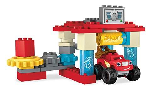 Mega Bloks Blaze & The Monster Machines Axle City Truck Wash Building Set...