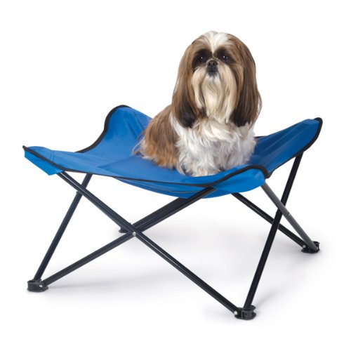 KandH Cool Breeze Portable Dog Bed, Small, 18-Inches by 18-Inches, Blue, My Pet Supplies