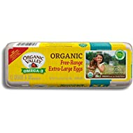Organic Valley, Organic Omega-3 Free-Range Extra Large Brown Eggs - 1 Dozen (12 ct)
