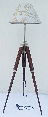 Nautical-Rosewood-Tripod-Lamp-Stand-Decorative-Wooden-Floor-Lamp-Stand-Without-Lampshade