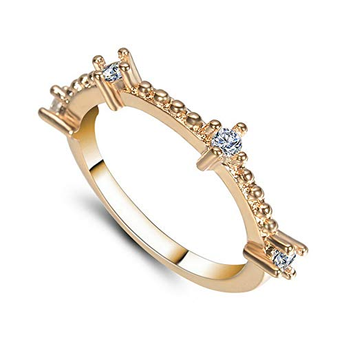 Campton Exquisite Simple Silver Gold Small Sapphire Tiny Thin Tail Ring Wedding Jewelry | Model RNG - 1972 | 9