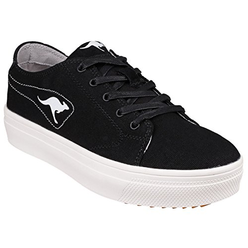 5 damas K mujer para Top Mid Canguros UK Trainers 5071 Plateau Low Negro v46xqBBwa