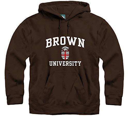 Ivysport Brown University Hooded Sweatshirt, Crest, Brown, X-Large