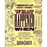 What Happened When : A Chronology of Life and Events in America, Carruth, Gorton, 0060963182
