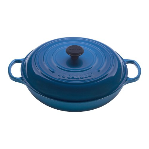 Le Creuset Signature Enameled Cast-Iron 3-3/4-Quart Round Braiser, Marseille