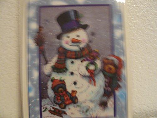 (Snowman Holiday Wreath Rub-ons)