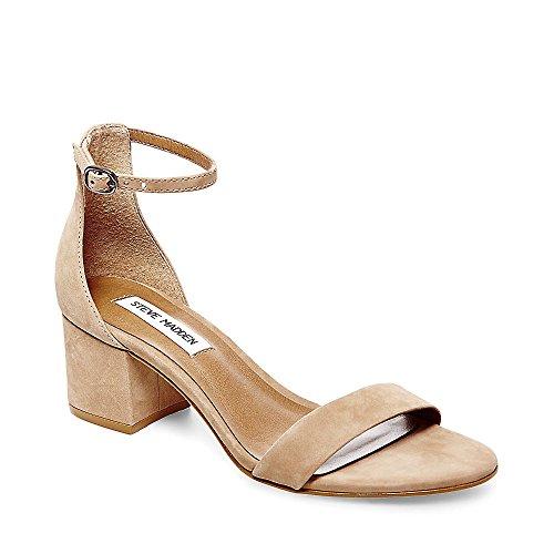 Steve Madden Women's Irenee Dress Sandal, Tan Nubuck, 8.5 M US