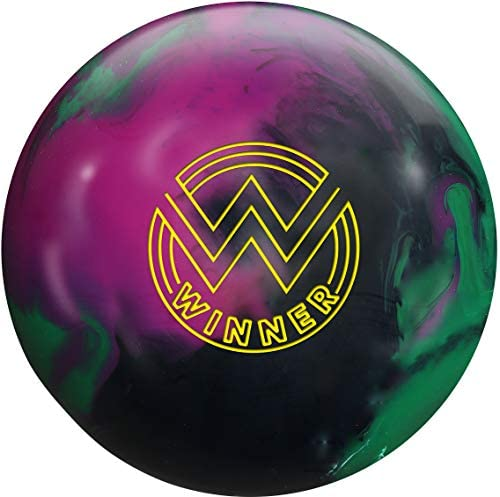 Roto Grip Winner Solid Bowling Ball- Black Purple Green