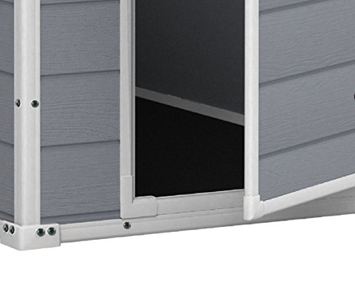 Garden and Outdoor KETER Manor 4×6 Resin Outdoor Storage Shed Kit-Perfect to Store Patio Furniture, Garden Tools Bike Accessories, Beach… outdoor storage sheds