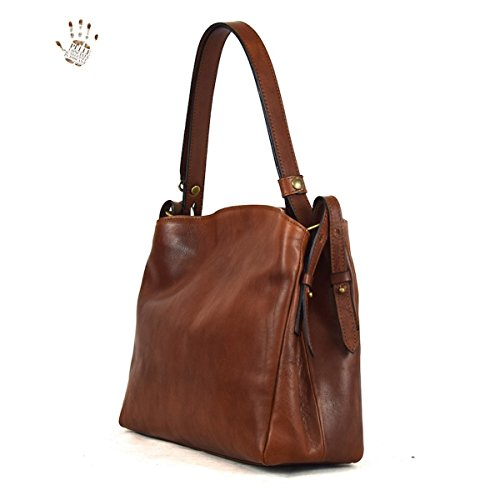 Pelletteria Made Donna Italy Toscana Marrone Borsa Pelle Colore In Prestige Linea qxX6nRFwU