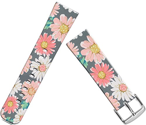 Bands Compatible with Iwatch 38mm/40mm & Cisland Leather Strap Compatible with Apple Watch Series 1/2/3/4 Sport & Edition Vintage Daisy Painting