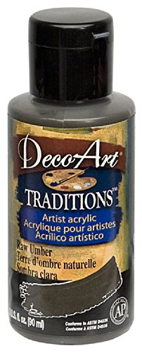 DecoArt Traditions Artist Acrylic Paint, 3-Ounce, Raw Umber