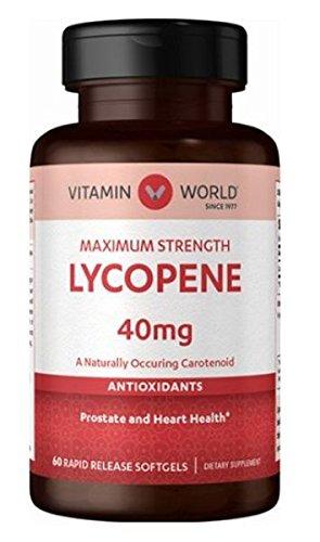 Vitamin World Maximum Strength Lycopene 40mg 60 softgels
