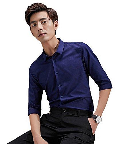 Faston 7分袖 シャツ メンズ 7分袖 yシャツ メンズ 7分袖 ワイシャツ メンズ ボタンダウン シャツ メンズ カジュアルシャツ 七分袖 メンズ 绵100% 春 夏 FA019