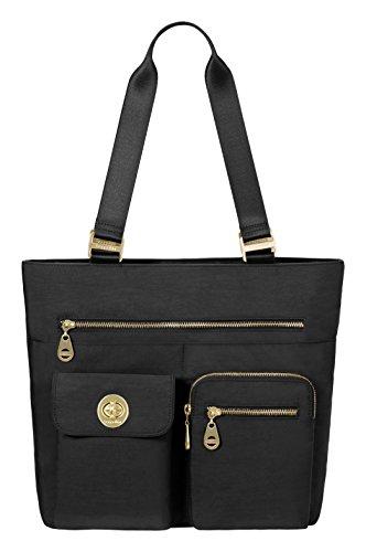 Baggallini Tulum Travel Tote Bag, Black, One Size