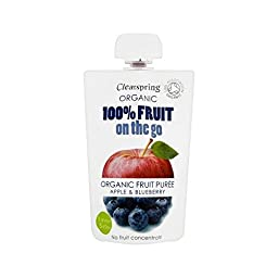 Clearspring Organic Fruit Puree Apple & Blueberry 100g - Pack of 6