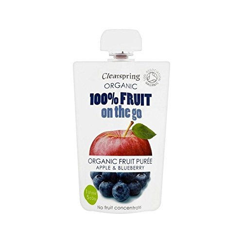Clearspring Organic Fruit Puree Apple & Blueberry 100g - Pack of 4