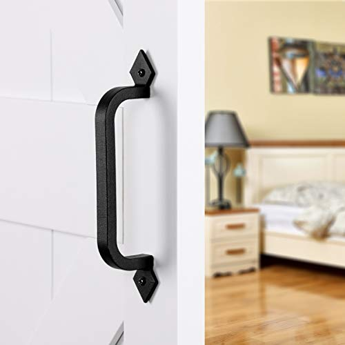 "SMARTSTANDARD 9-3/4"" Heavy Duty Barn Door Pull Handle for Gate Kitchen Furniture Cabinet Closet Drawer ()"