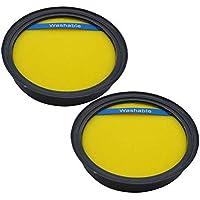 EZ SPARES 2Pcs Eureka DCF25 DCF-25 Washable & Reusable Filter,Eureka Part # 67600 & Electrolux Part # 82982.Fits SuctionSeal (AS1100 Series) Endeavor NLS (5400 Series), Nimble (EL8600 Series)