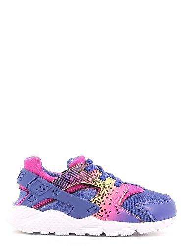 Nike Baby Jungen Huarache Run Print (TD) Schuhe für Neugeborene Schwarz / Pink (Nght Dp / Dp Nght-Fr Pnk-brght C)
