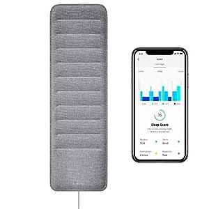 Withings Sleep – Sleep Tracking Pad Under The Mattress with Sleep Cycle Analysis, Sleep Score & Sleep Sensor to Control Light, Music & Room Temperature, Breathing Disturbances – Compatible with Alexa