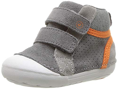 (Stride Rite Boys' SM Milo Sneaker Grey 5 M US Toddler)