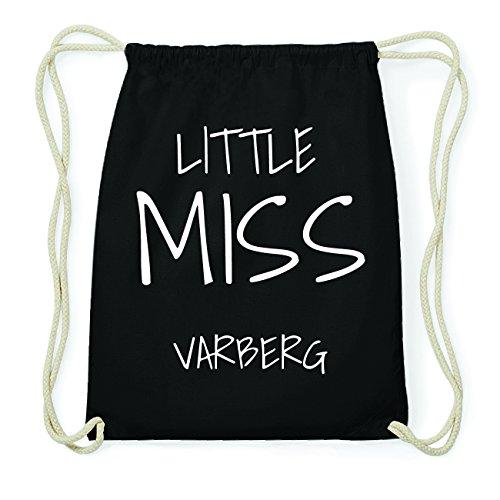 JOllify VARBERG Hipster Turnbeutel Tasche Rucksack aus Baumwolle - Farbe: schwarz Design: Little Miss 1DsWgBjP9u