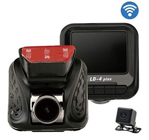 LOO.KING Dash Cam FHD 1080P, Sony IMX323 Sensor, Dual Recording, WiFi, Night Vision, 24hours Parking Surveillance Dashcam, Motion Detection, G-Sensor, Loop Recording