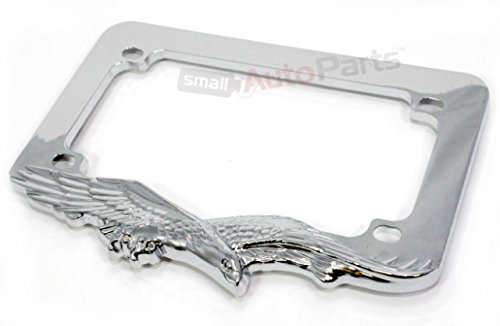 C Accessories Motorcycle License Plate Frame Chrome Eagle