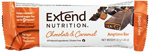 ExtendBar Sugar Free Anytime Bar, Chocolat et Caramel, 15 chefs d'accusation 1,48 onces