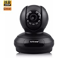 Sricam 1080P HD Pan/Tilt/Zoom Wireless Security Camera, HD WiFi Security Surveillance, IP Camera Home Monitor with Motion Detection, Two-Way Audio, Night Vision