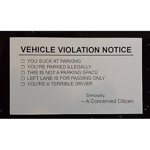 Free shipping vehicle violation notice offensive business cards 10 free shipping vehicle violation notice offensive business cards 10 pack reheart Gallery