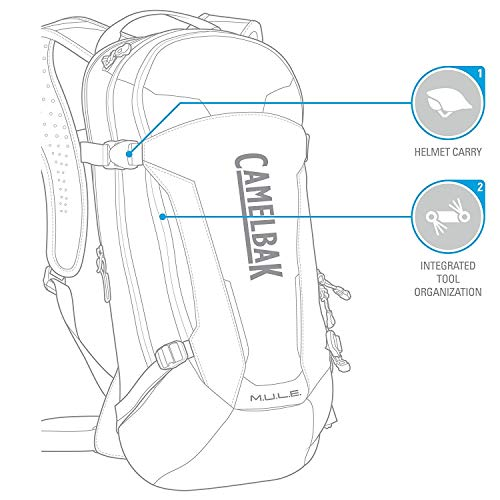 CamelBak 1115001000 M.U.L.E. Crux Reservoir Hydration Pack, Black, 3 L/100 oz