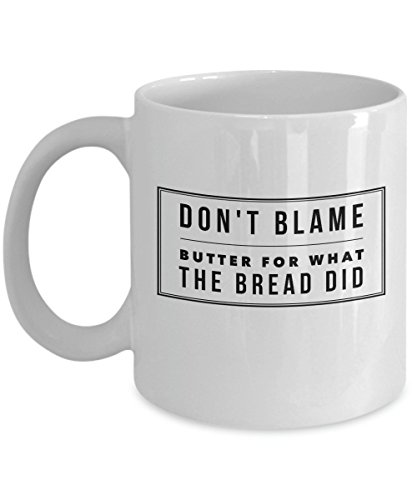 Perfect gift for Keto or Low Carb (LCHF) - Don't Blame Butter Coffee Mug - Ceramic