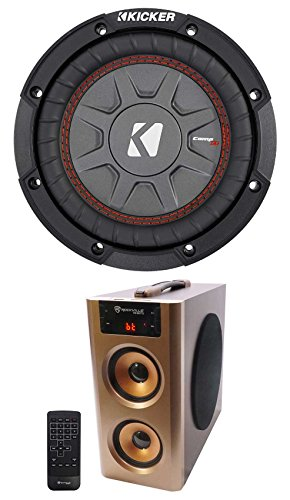 Kicker 43CWRT671 COMPRT67 6.75'' 300 Watt DVC 1-Ohm Car Subwoofer + Free Speaker by Kicker